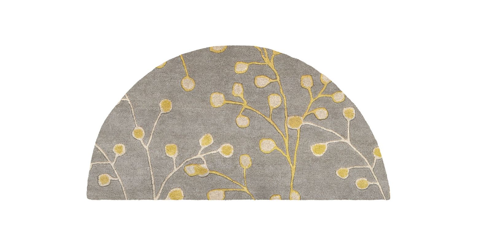 Surya ATH-5060 Athena Hand Tufted Wool Rug Gray 2 x 4 Home Decor Rugs