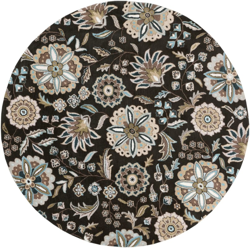Surya ATH-5061 Athena Hand Tufted Wool Rug Black 4 x 4 Round Home Sale $182.40 ITEM: bci2660284 ID#:ATH5061-4RD UPC: 764262660838 :
