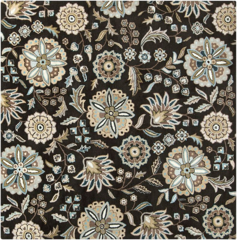 Surya ATH-5061 Athena Hand Tufted Wool Rug Black 4 x 4 Home Decor Rugs