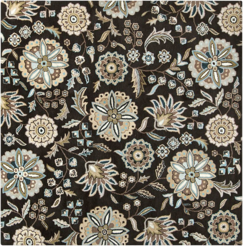 Surya ATH-5061 Athena Hand Tufted Wool Rug Black 8 x 8 Home Decor Rugs