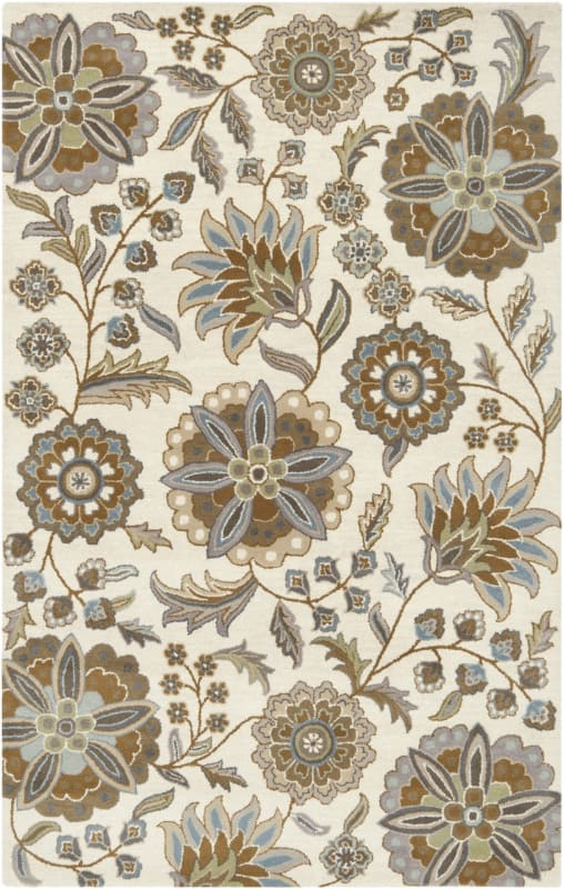 Surya ATH-5063 Athena Hand Tufted Wool Rug Blue 4 x 6 Home Decor Rugs