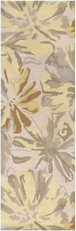 Surya ATH-5071 Athena Hand Tufted Wool Rug Gold 2 1/2 x 8 Home Decor
