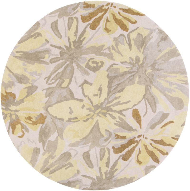 Surya ATH-5071 Athena Hand Tufted Wool Rug Gold 4 x 4 Round Home Decor Sale $182.40 ITEM: bci2660328 ID#:ATH5071-4RD UPC: 764262712360 :