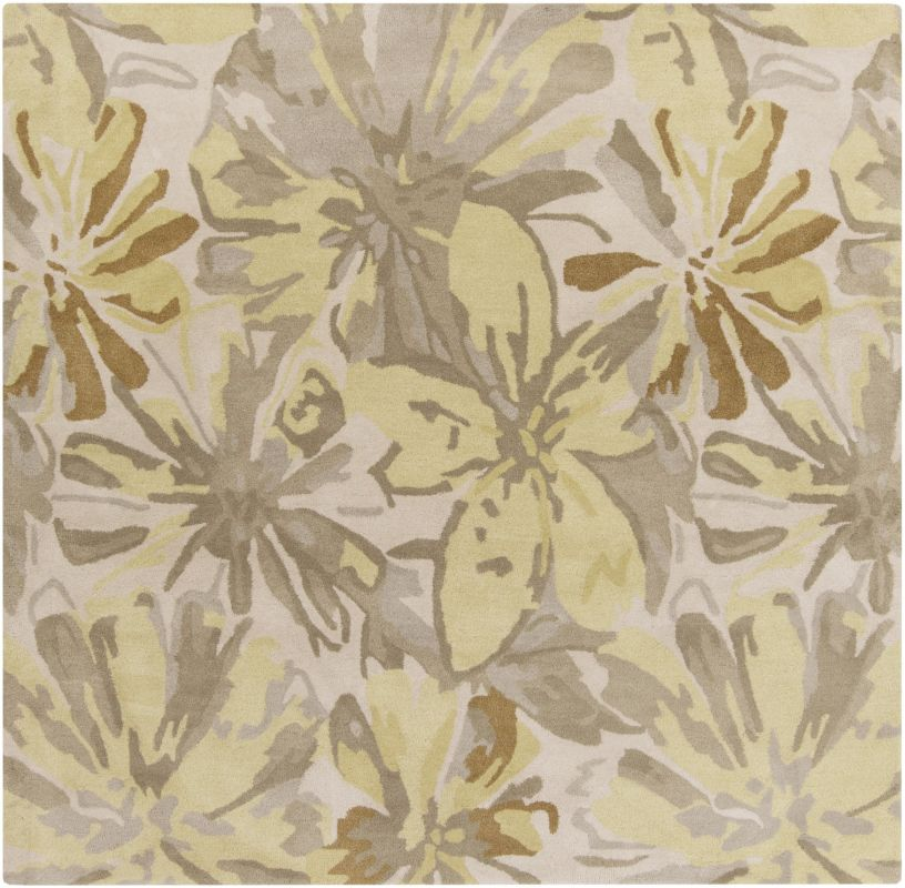 Surya ATH-5071 Athena Hand Tufted Wool Rug Gold 4 x 4 Home Decor Rugs