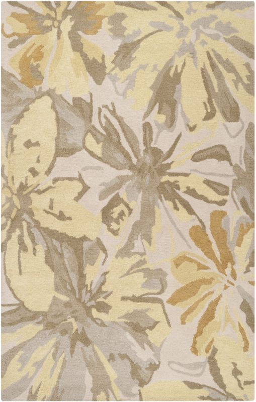 Surya ATH-5071 Athena Hand Tufted Wool Rug Gold 6 x 9 Home Decor Rugs
