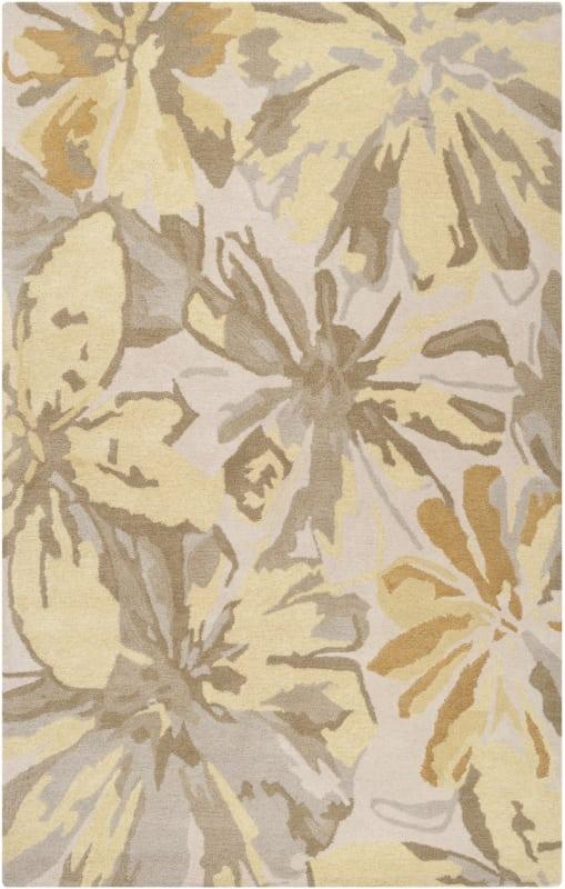 Surya ATH-5071 Athena Hand Tufted Wool Rug Gold 8 x 11 Home Decor Rugs