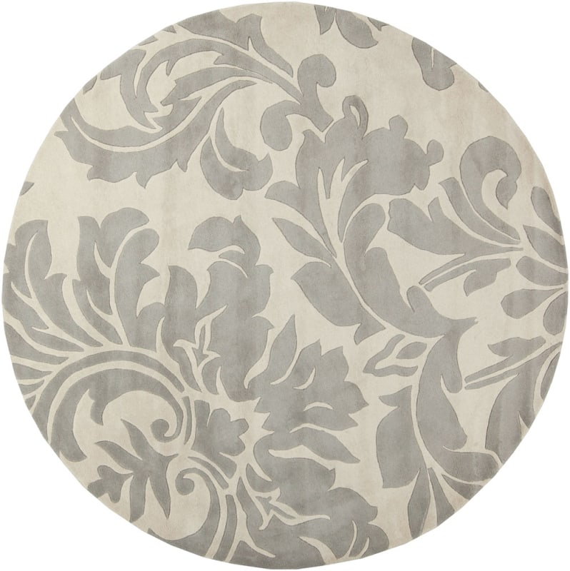 Surya ATH-5073 Athena Hand Tufted Wool Rug Gray 8 x 8 Round Home Decor