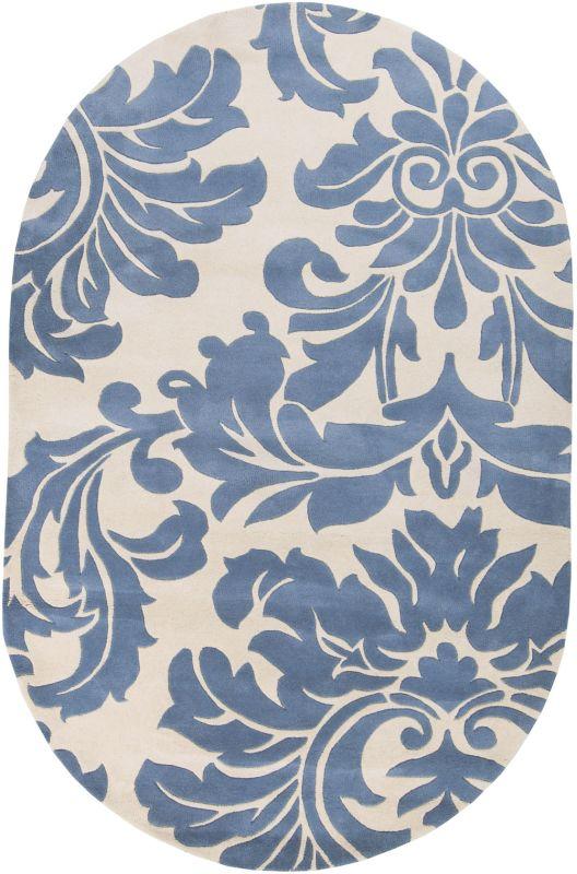Surya ATH-5076 Athena Hand Tufted Wool Rug Gray 6 x 9 Oval Home Decor