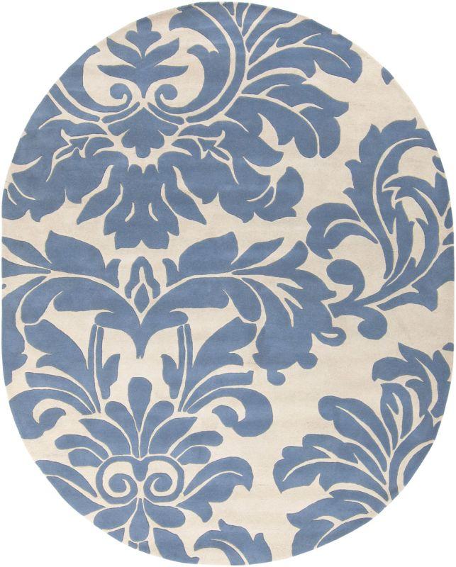 Surya ATH-5076 Athena Hand Tufted Wool Rug Gray 8 x 10 Oval Home Decor