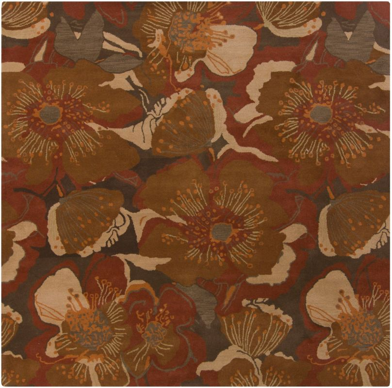 Surya ATH-5102 Athena Hand Tufted Wool Rug Red 4 x 4 Home Decor Rugs