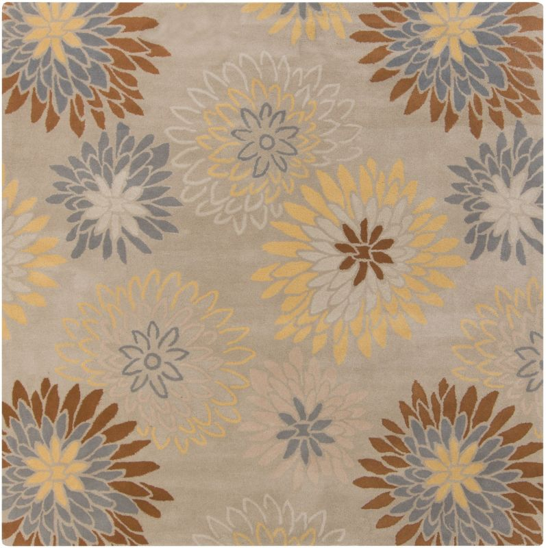 Surya ATH-5106 Athena Hand Tufted Wool Rug Gray 6 x 6 Home Decor Rugs