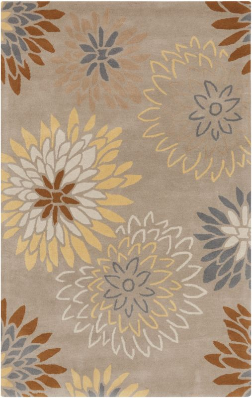 Surya ATH-5106 Athena Hand Tufted Wool Rug Gray 7 1/2 x 9 1/2 Home