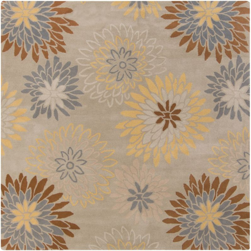 Surya ATH-5106 Athena Hand Tufted Wool Rug Gray 8 x 8 Home Decor Rugs