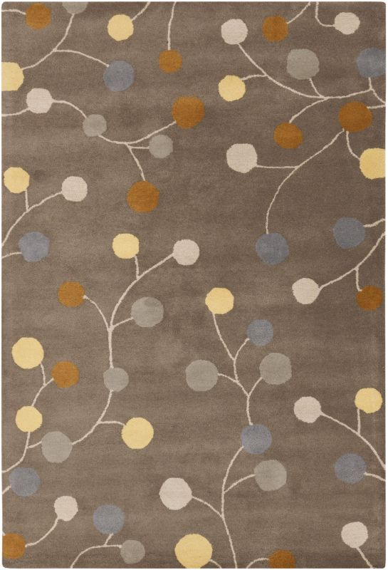 Surya ATH-5107 Athena Hand Tufted Wool Rug Gray 6 x 9 Home Decor Rugs