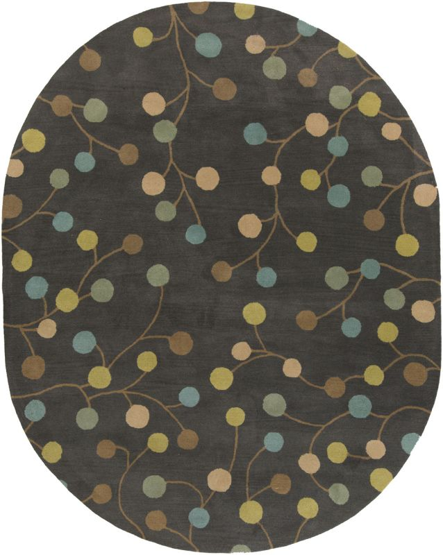Surya ATH-5110 Athena Hand Tufted Wool Rug Gray 8 x 10 Oval Home Decor Sale $904.20 ITEM: bci2660490 ID#:ATH5110-810OV UPC: 764262857689 :