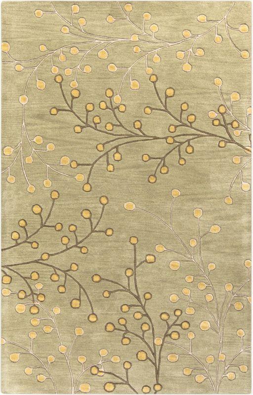 Surya ATH-5113 Athena Hand Tufted Wool Rug Brown 3 x 12 Home Decor