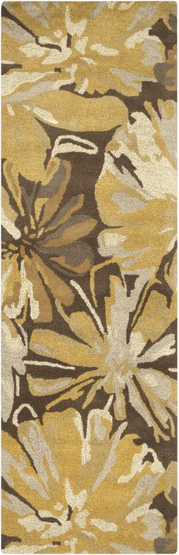Surya ATH-5115 Athena Hand Tufted Wool Rug Gold 2 1/2 x 8 Home Decor