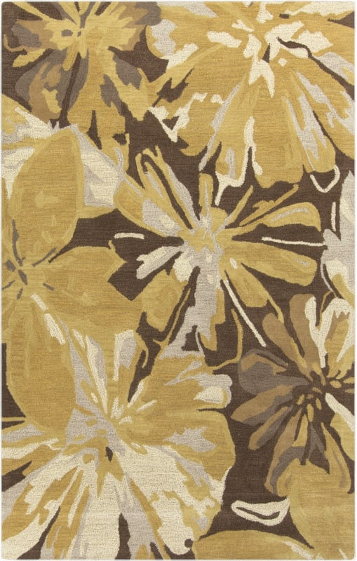 Surya ATH-5115 Athena Hand Tufted Wool Rug Gold 3 x 12 Home Decor Rugs