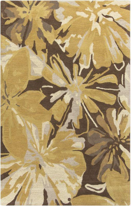 Surya ATH-5115 Athena Hand Tufted Wool Rug Gold 4 x 6 Home Decor Rugs