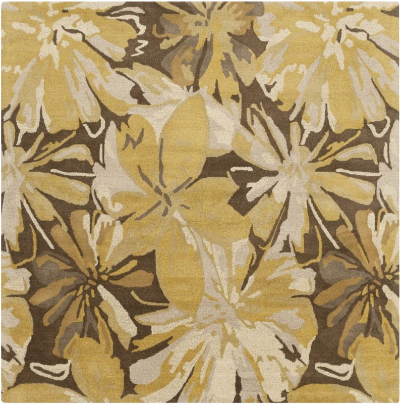Surya ATH-5115 Athena Hand Tufted Wool Rug Gold 4 x 4 Home Decor Rugs