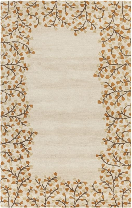 Surya ATH-5118 Athena Hand Tufted Wool Rug Gold 4 x 6 Home Decor Rugs