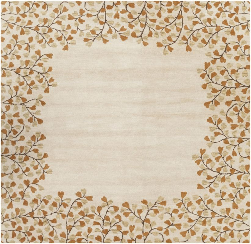 Surya ATH-5118 Athena Hand Tufted Wool Rug Gold 4 x 4 Home Decor Rugs