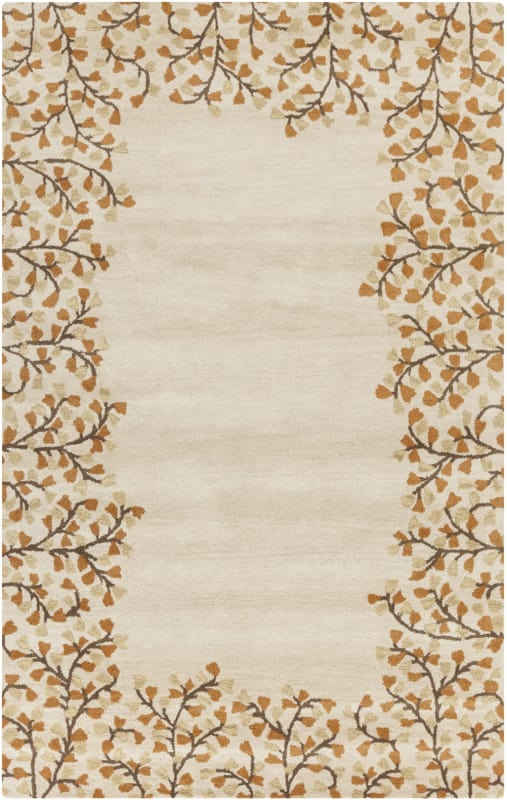 Surya ATH-5118 Athena Hand Tufted Wool Rug Gold 5 x 8 Home Decor Rugs