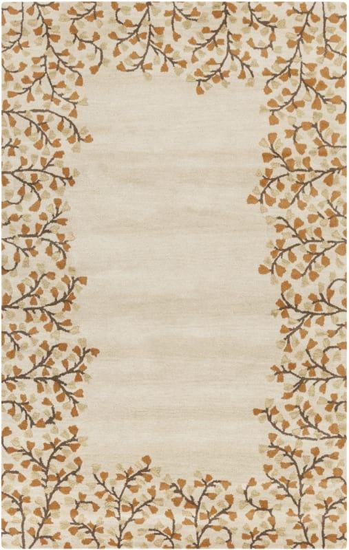 Surya ATH-5118 Athena Hand Tufted Wool Rug Gold 6 x 9 Home Decor Rugs