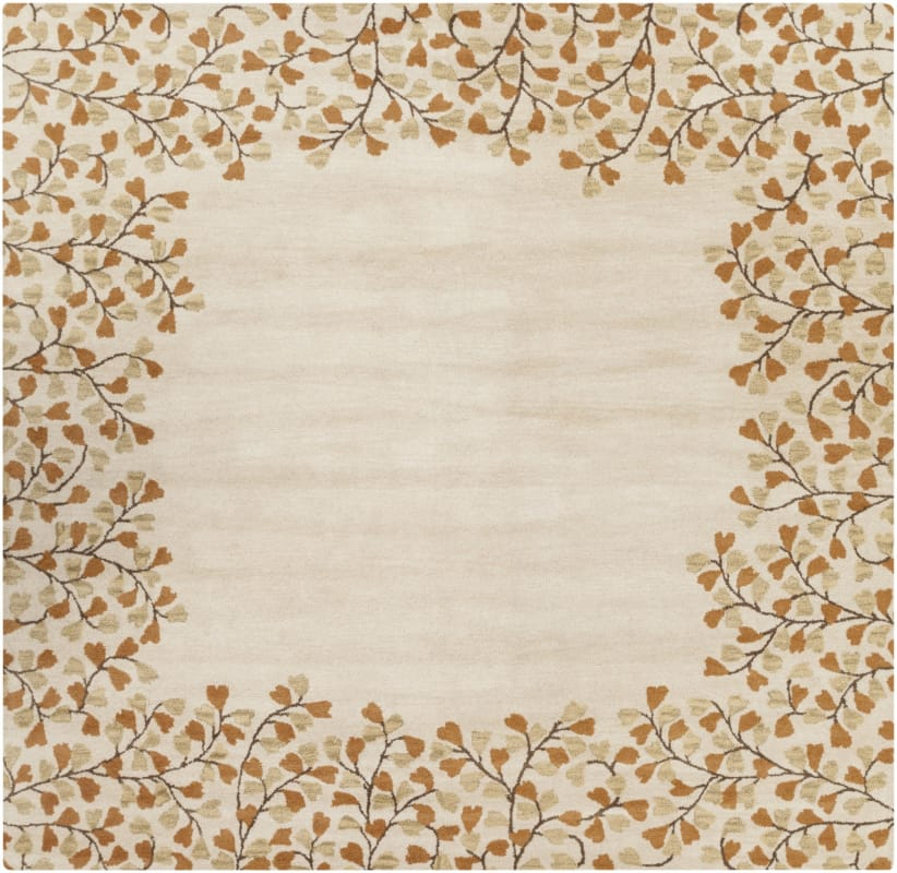 Surya ATH-5118 Athena Hand Tufted Wool Rug Gold 6 x 6 Home Decor Rugs