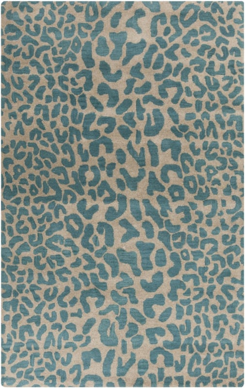 Surya ATH-5120 Athena Hand Tufted Wool Rug Blue 4 x 6 Home Decor Rugs