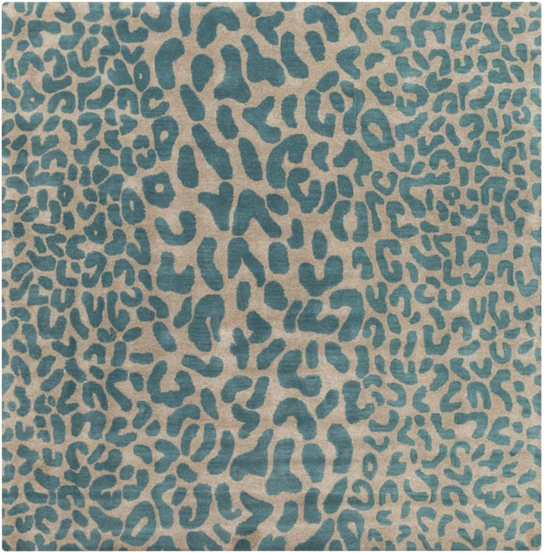 Surya ATH-5120 Athena Hand Tufted Wool Rug Blue 6 x 6 Home Decor Rugs