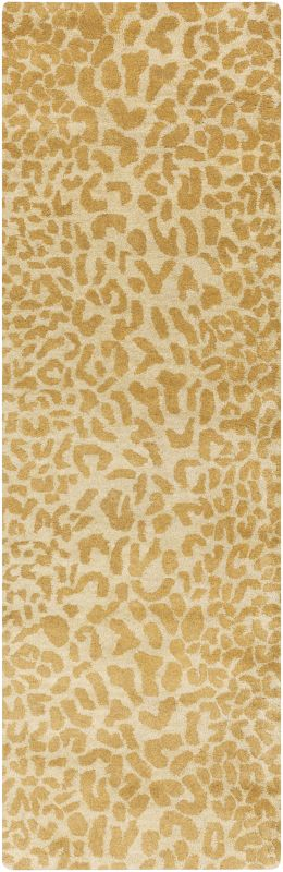 Surya ATH-5121 Athena Hand Tufted Wool Rug Gold 2 1/2 x 8 Home Decor