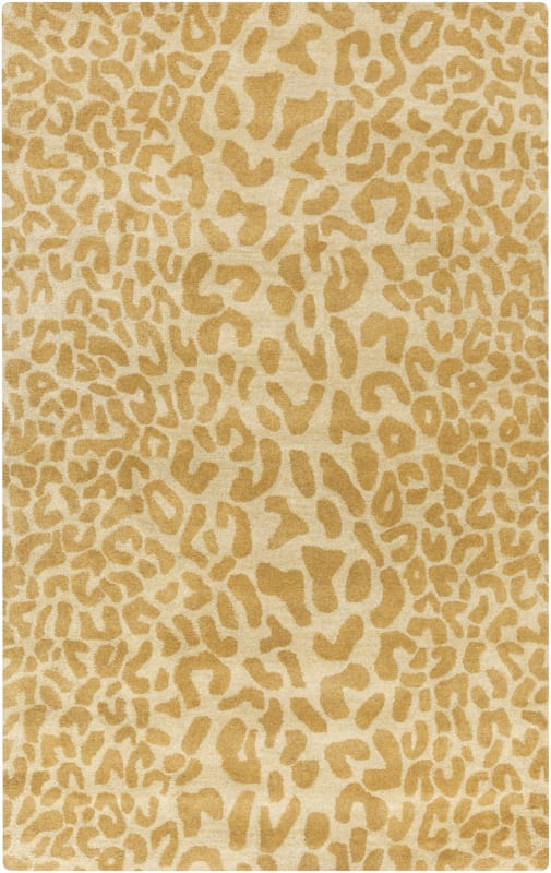 Surya ATH-5121 Athena Hand Tufted Wool Rug Gold 4 x 6 Home Decor Rugs