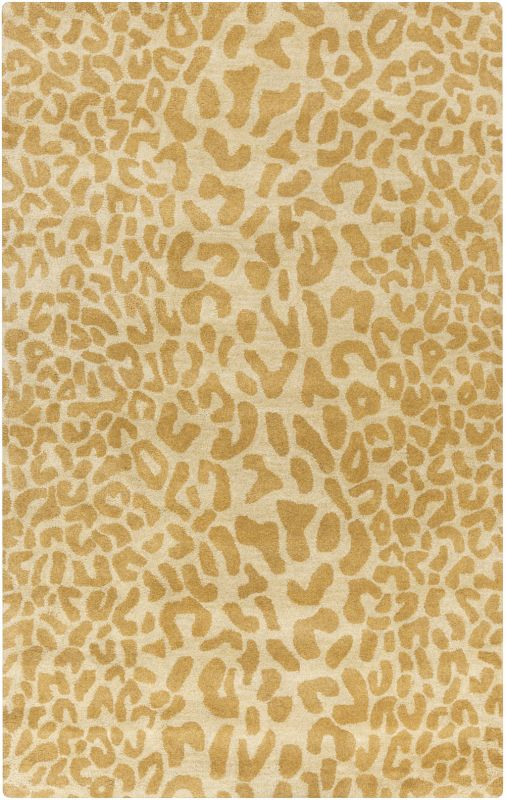 Surya ATH-5121 Athena Hand Tufted Wool Rug Gold 5 x 8 Home Decor Rugs