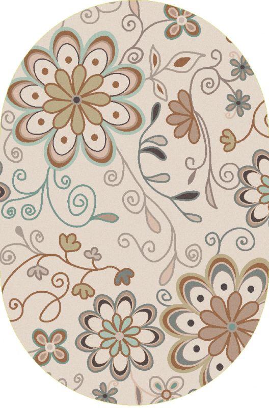 Surya ATH-5123 Athena Hand Tufted Wool Rug Gray 6 x 9 Oval Home Decor