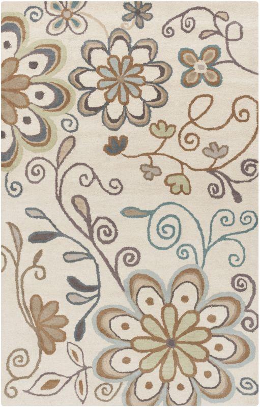 Surya ATH-5123 Athena Hand Tufted Wool Rug Gray 8 x 11 Home Decor Rugs