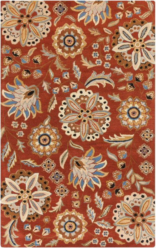Surya ATH-5126 Athena Hand Tufted Wool Rug Red 3 x 12 Home Decor Rugs