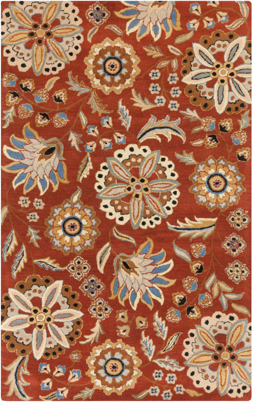Surya ATH-5126 Athena Hand Tufted Wool Rug Red 5 x 8 Home Decor Rugs