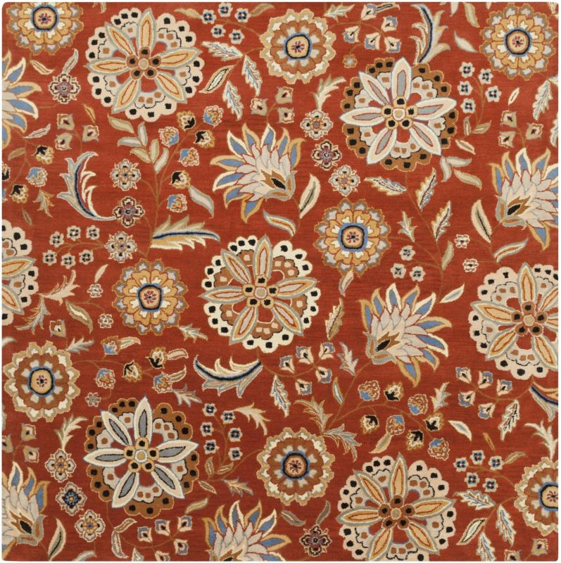 Surya ATH-5126 Athena Hand Tufted Wool Rug Red 9 1/2 x 9 1/2 Home