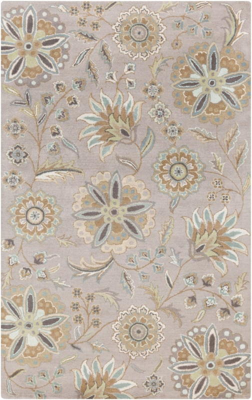 Surya ATH-5127 Athena Hand Tufted Wool Rug Blue 8 x 11 Home Decor Rugs