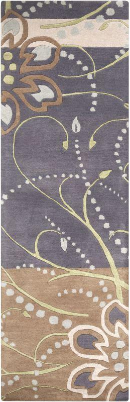 Surya ATH-5128 Athena Hand Tufted Wool Rug Blue 2 1/2 x 8 Home Decor