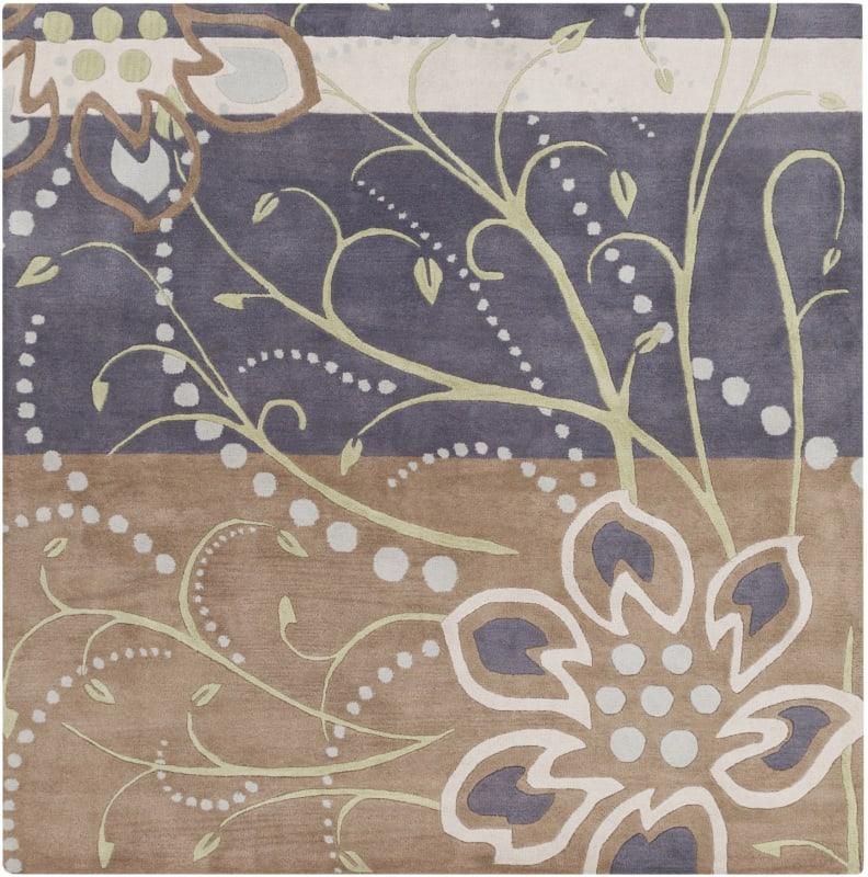 Surya ATH-5128 Athena Hand Tufted Wool Rug Blue 4 x 4 Home Decor Rugs