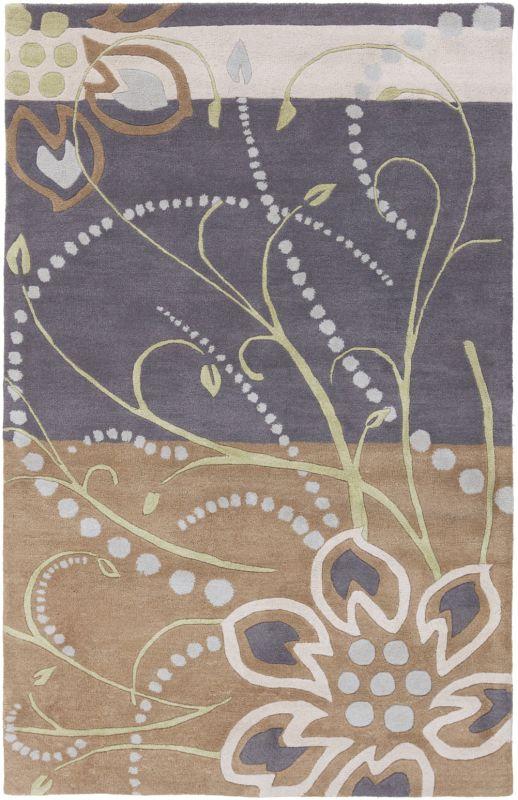 Surya ATH-5128 Athena Hand Tufted Wool Rug Blue 5 x 8 Home Decor Rugs