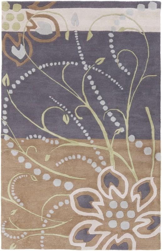 Surya ATH-5128 Athena Hand Tufted Wool Rug Blue 6 x 9 Home Decor Rugs