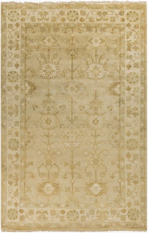 Surya ATQ-1003 Antique Hand Knotted New Zealand Wool Rug Off-White 8 x
