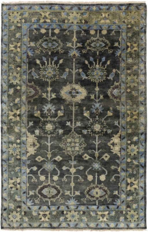 Surya ATQ-1008 Antique Hand Knotted New Zealand Wool Rug Green 8 x 11 Sale $4218.00 ITEM: bci2660955 ID#:ATQ1008-811 UPC: 888473221937 :