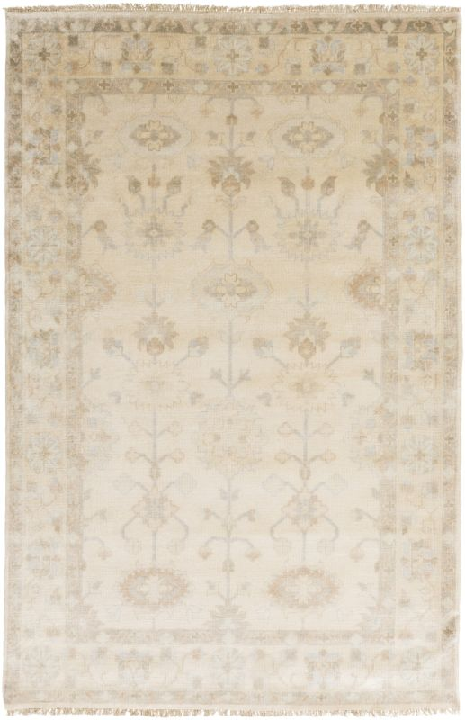 Surya ATQ-1010 Antique Hand Knotted New Zealand Wool Rug Off-White 3