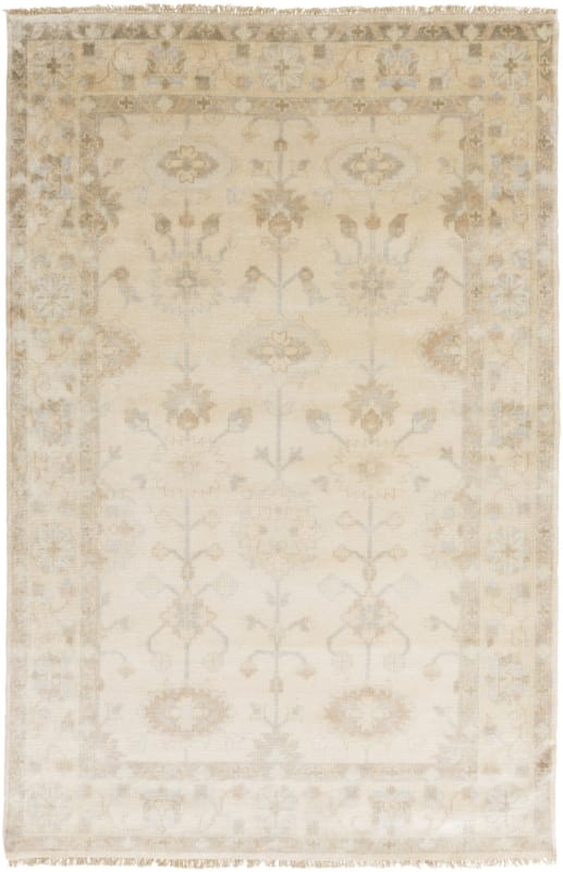 Surya ATQ-1010 Antique Hand Knotted New Zealand Wool Rug Off-White 8 x