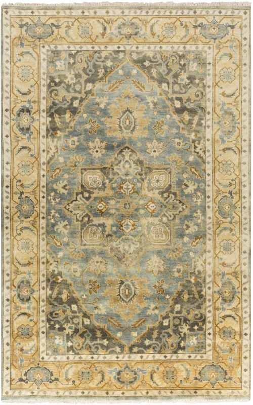Surya ATQ-1012 Antique Hand Knotted New Zealand Wool Rug Blue 8 x 11