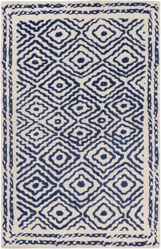 Surya ATS-1002 Atlas Hand Knotted Wool Rug Blue 5 x 8 Home Decor Rugs Sale $1862.40 ITEM: bci2660980 ID#:ATS1002-58 UPC: 764262923698 :